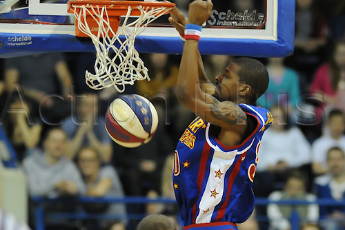 21.03.2012 Nottingham, England. The Harlem Globetrotters Tour. ANT  in action during the game played at the Capital FM Arena.