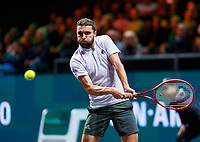 Rotterdam, The Netherlands, 9 Februari 2020, ABNAMRO World Tennis Tournament, Ahoy, Gilles Simon (FRA).<br /> Photo: www.tennisimages.com