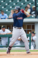 Travis Shaw (39) of the Pawtucket Red Sox at bat against the Charlotte Knights at BB&T Ballpark on August 10, 2014 in Charlotte, North Carolina.  The Red Sox defeated the Knights  6-4.  (Brian Westerholt/Four Seam Images)