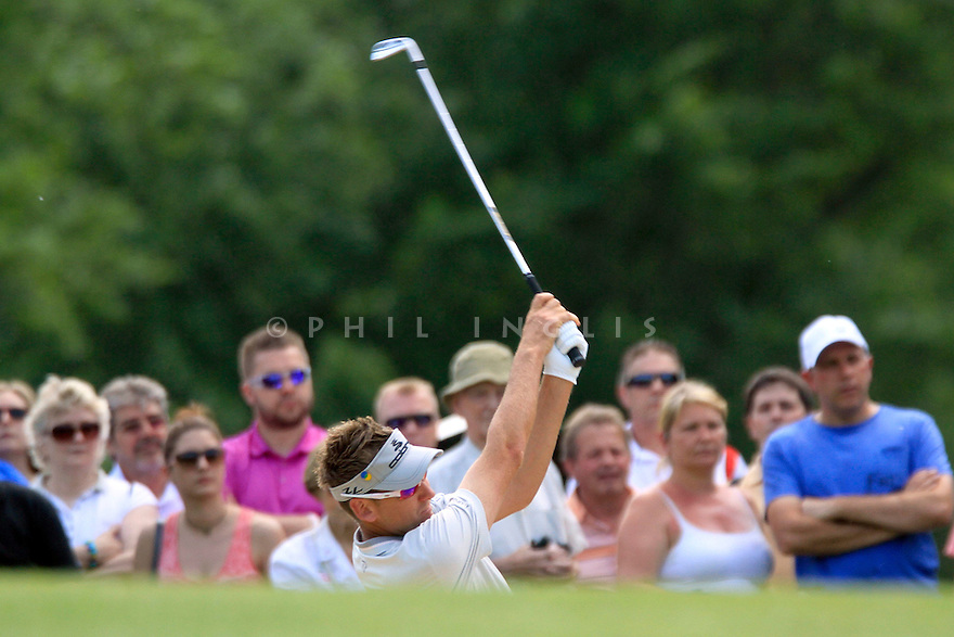 Ian Poulter (ENG) in action during the final round of the BMW PGA Championship played on the West Course, Wentworth Club, Virginia Water, Surrey, England 24 - 27 May 2012. (Picture Credit / Phil Inglis)