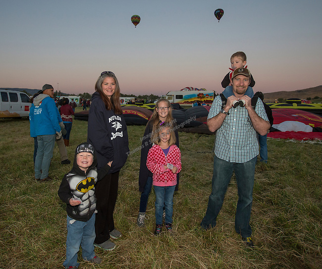 The Jensen family at the Great Reno Balloon Races held on Saturday, Sept. 10, 2016.