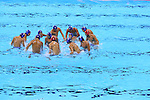 Japan team group (JPN), <br /> AUGUST 14, 2016- Water Polo : <br /> Men's Preliminary Round group A<br /> match between Serbia - Japan <br /> at Olympic Aquatics Stadium<br /> during the Rio 2016 Olympic Games in Rio de Janeiro, Brazil. <br /> (Photo by Yohei Osada/AFLO SPORT)