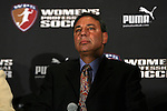 15 January 2010: Boston Breakers head coach Tony DiCicco. The 2010 WPS Draft was held at Pennsylvania Convention Center in Philadelphia, PA during the NSCAA Annual Convention.