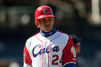 15 March 2009: #24 Frederich Cepeda of Cuba is seen during the 2009 World Baseball Classic Pool 1 game 1 at Petco Park in San Diego, California, USA. Japan wins 6-0 over Cuba.