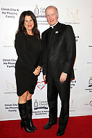 BURBANK - APR 27: Kathleen Cahill, Monsignor Gregory Cox at the Faith, Hope and Charity Gala hosted by Catholic Charities of Los Angeles at De Luxe Banquet Hall on April 27, 2019 in Burbank, CA