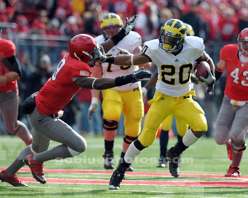 University of Michigan football 37-7 loss to Ohio State University at Ohio Stadium in Columbus, OH, on November 27, 2010.