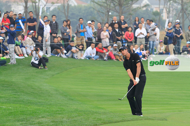 Nicolas Colsaerts (BEL) on the 18th on Day 3 of the BMW Masters 2012 at Lake Malaren Golf Club, Shanghai, China, Tuesday 26/10/12...(Photo www.golffile.ie)