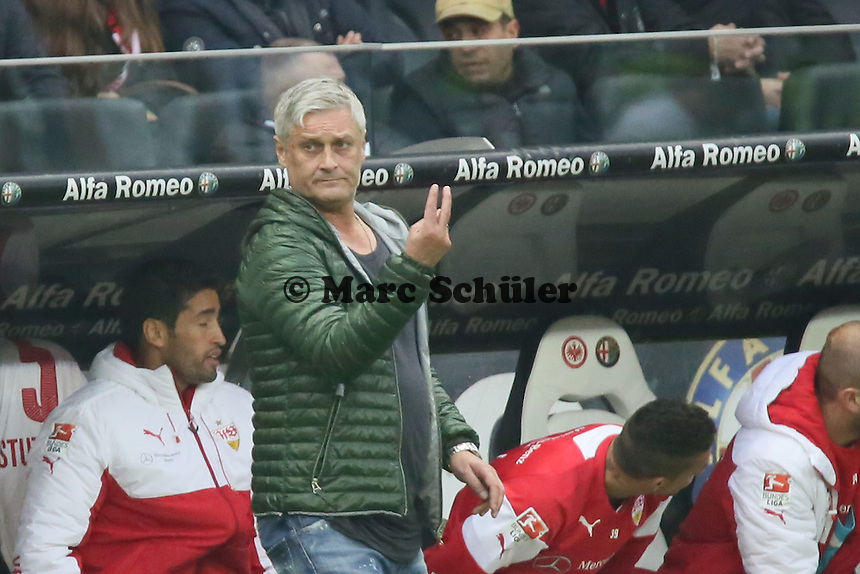 Trainer Armin Veh (VfB) - Eintracht Frankfurt vs. VfB Stuttgart, Commerzbank Arena