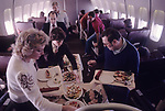 People Express PeopleExpress May 26th 1983 first flight from Gatwick airport London to Newark New Jersey USA. 1980s