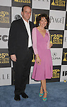 LOS ANGELES, CA. - March 05: Actors Jennifer Grey and Clark Gregg arrive at the 25th Film Independent Spirit Awards held at Nokia Theatre L.A. Live on March 5, 2010 in Los Angeles, California.
