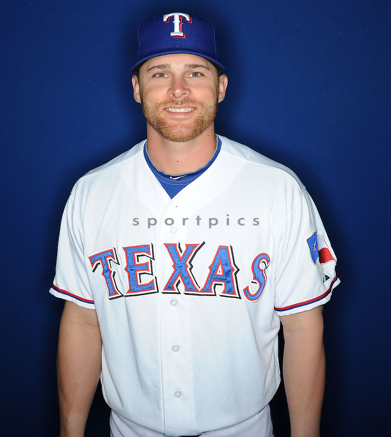 Texas Rangers Craig Gentry (23) at media photo day during spring training on February 20, 2013 in Surprise, AZ