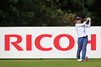 Eri Okayama (JPN) on the 3rd tee during Round 3 of the Ricoh Women's British Open at Royal Lytham &amp; St. Annes on Saturday 4th August 2018.<br /> Picture:  Thos Caffrey / Golffile<br /> <br /> All photo usage must carry mandatory copyright credit (&copy; Golffile | Thos Caffrey)