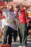 18 November 2006: Mark Bradford and David Lofton during Stanford's 30-7 loss to Oregon State at Stanford Stadium in Stanford, CA.