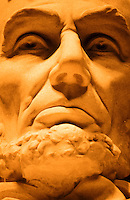 Abrahan Lincoln statue inside the Memorial in Washington DC, USA