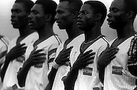 Pix:Michael Steele/SWpix...International Soccer. African Nations Cup, Senegal 1992...COPYRIGHT PICTURE>>SIMON WILKINSON..Ghanas National Anthem.