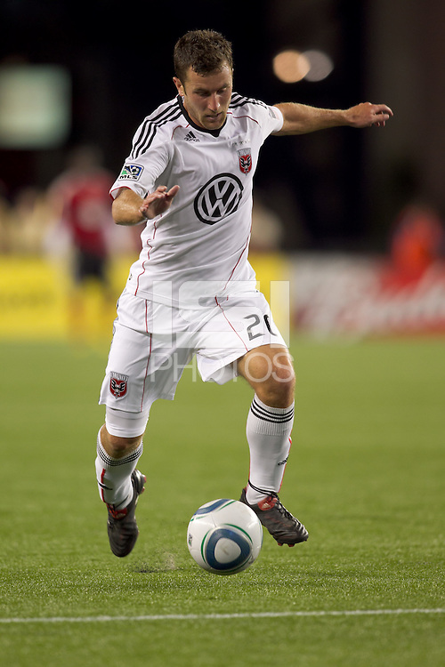 DC United midfielder Stephen King (20). The New England Revolution defeated DC United, 1-0, at Gillette Stadium on August 7, 2010.