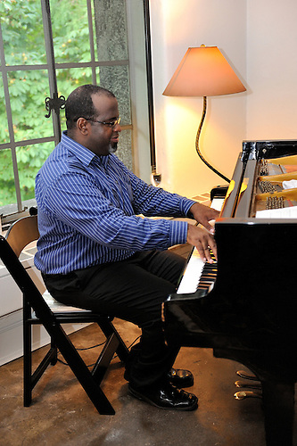 Adonis Gonzalez.Cuban Pianist.playing at the Hay Barn at Kykuit, the Rockefeller Estate,.Pocantico Hills, New York..