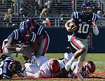Ole Miss vs. Arkansas football on Oct. 28, 2017. Arkansas won 38-37. Photo by Marlee Crawford/Ole Miss Communications