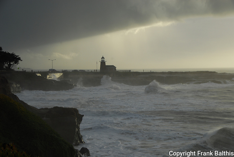 Storm surf at Lighthouse Point