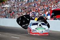 Feb. 18, 2012; Chandler, AZ, USA; NHRA pro stock driver Mike Edwards during qualifying for the Arizona Nationals at Firebird International Raceway. Mandatory Credit: Mark J. Rebilas-