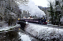 10/12/17<br /> <br /> The Santa Express steams out of Consall station on the Churnet Valley Railway in the Staffordshire Moorlands near Leek.<br />  <br /> All Rights Reserved F Stop Press Ltd. +44 (0)1335 344240 +44 (0)7765 242650  www.fstoppress.com