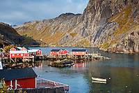 historic fishing village of Nusfjord, Lofoten islands, Norway