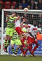 Dan Burn of Yeovil heads for goal. Stevenage v Yeovil Town- npower League 1 -  Lamex Stadium, Stevenage - 13th April, 2013. © Kevin Coleman 2013.. . . . .. . . .  . . .  .