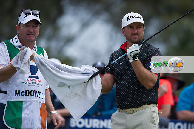 Graeme McDowell (NIR) during round 3 at the ISPS Handa World Cup of Golf, from Kingston heath Golf Club, Melbourne Australia. 26/11/2016<br /> Picture: Golffile | Anthony Powter<br /> <br /> <br /> All photo usage must carry mandatory copyright credit (&copy; Golffile | Anthony Powter)
