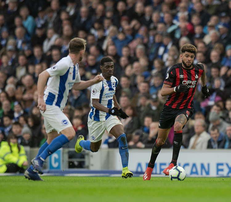 Huddersfield Town's Philip Billing (right) under pressure <br /> <br /> Photographer David Horton/CameraSport<br /> <br /> The Premier League - Brighton and Hove Albion v Huddersfield Town - Saturday 2nd March 2019 - The Amex Stadium - Brighton<br /> <br /> World Copyright © 2019 CameraSport. All rights reserved. 43 Linden Ave. Countesthorpe. Leicester. England. LE8 5PG - Tel: +44 (0) 116 277 4147 - admin@camerasport.com - www.camerasport.com