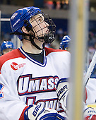 Josh Holmstrom (Lowell - 12) - The visiting Northeastern University Huskies defeated the University of Massachusetts-Lowell River Hawks 3-2 with 14 seconds remaining in overtime on Friday, February 11, 2011, at Tsongas Arena in Lowelll, Massachusetts.