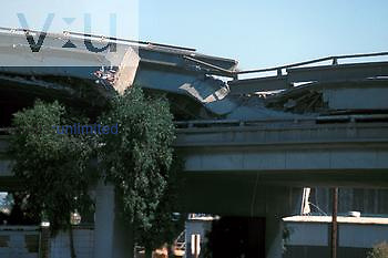 Collapsed Highway from California Earthquake 10/17/89.
