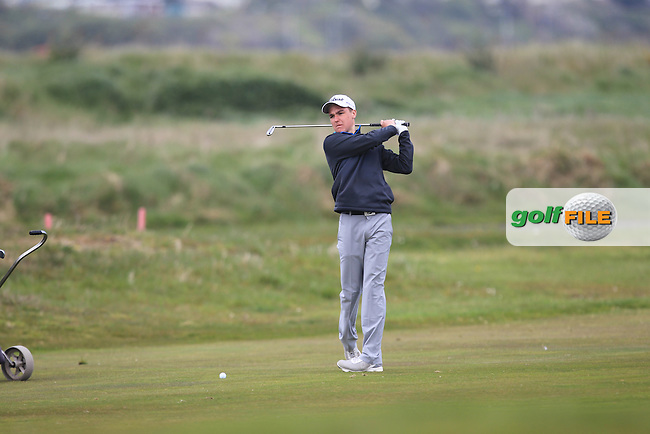 David Ramsey (ENG) on the 13rd during Round 1 of the Flogas Irish Amateur Open Championship at Royal Dublin on Thursday 5th May 2016.<br /> Picture:  Thos Caffrey / www.golffile.ie