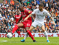 Leeds United's Mateusz Klich vies for possession with Nottingham Forest's Samba Sow<br /> <br /> Photographer Alex Dodd/CameraSport<br /> <br /> The EFL Sky Bet Championship - Leeds United v Nottingham Forest - Saturday 10th August 2019 - Elland Road - Leeds<br /> <br /> World Copyright © 2019 CameraSport. All rights reserved. 43 Linden Ave. Countesthorpe. Leicester. England. LE8 5PG - Tel: +44 (0) 116 277 4147 - admin@camerasport.com - www.camerasport.com