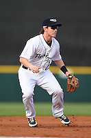 Lakeland Flying Tigers shortstop Jared Reaves (13) during a game against the Tampa Yankees on April 5, 2014 at Joker Marchant Stadium in Lakeland, Florida.  Lakeland defeated Tampa 3-0.  (Mike Janes/Four Seam Images)