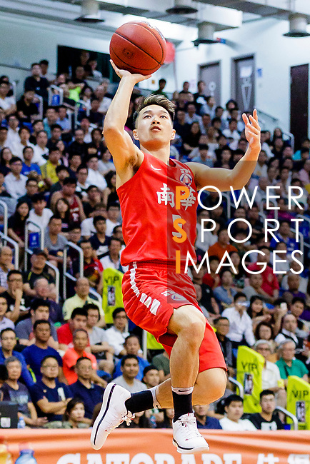 Lo Yi Ting #5 of SCAA Men's Basketball Team goes to the basket against the against the Winling during the Hong Kong Basketball League game between SCAA vs Winling at Southorn Stadium on June 19, 2018 in Hong Kong. Photo by Yu Chun Christopher Wong / Power Sport Images