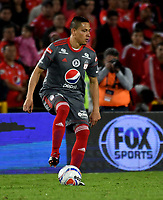 BOGOTA - COLOMBIA - 23 - 01 - 2018: Anderson Plata, jugador de America de Cali, en acción, durante partido entre America de Cali y Deportivo Cali, por el Torneo Fox Sports 2018, jugado en el estadio Nemesio Camacho El Campin de la ciudad de Bogota. / Anderson Plata, player of America de Cali, in action, during a match between America de Cali y Deportivo Cali, for the Fox Sports Tournament 2018, played at the Nemesio Camacho El Campin stadium in the city of Bogota. Photo: VizzorImage / Luis Ramirez / Staff.