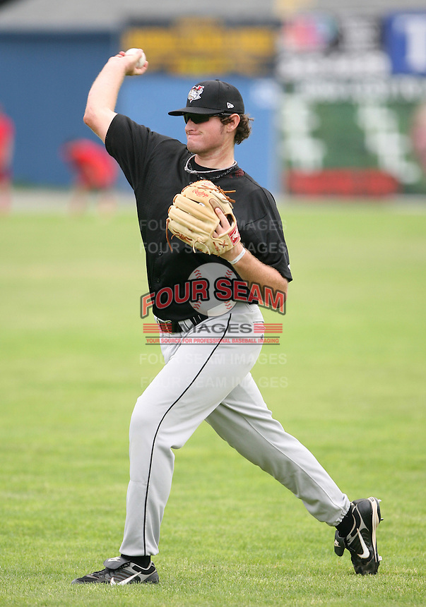 2007:  Cole Adams of the Tri-City Valley Cats, Class-A affiliate of the Houston Astros, during the New York-Penn League baseball season.  Photo by Mike Janes/Four Seam Images