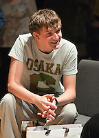"""Relaxing during a break in rehearsals.  Special Olympics Surrey put on a show,   """"Beyond the Stars"""", at the Rose Theatre, Kingston upon Thames to raise money for the  SOGB team.  The Special Olympics are for athletes with learning disabilities."""