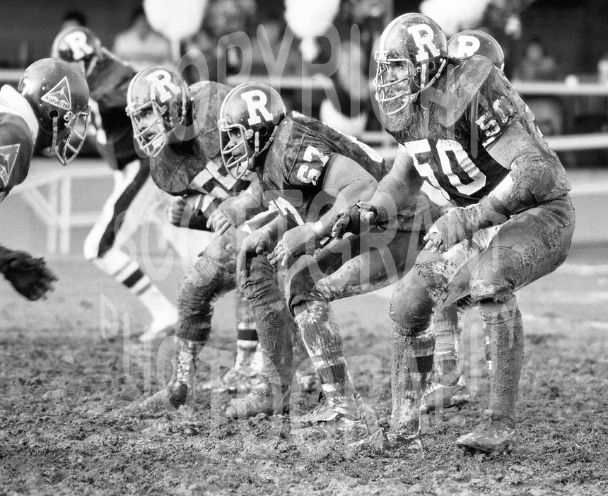 Kevin Powell, Rudy Philips and Val Belcher of the Ottawa Rough Riders. Photo copyright Scott Grant.