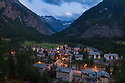 The village of Lillaz, Gran Paradiso National Park, Aosta Valley, Pennine Alps, Italy. July.