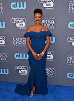 Samira Wiley at the 23rd Annual Critics' Choice Awards at Barker Hangar, Santa Monica, USA 11 Jan. 2018<br /> Picture: Paul Smith/Featureflash/SilverHub 0208 004 5359 sales@silverhubmedia.com