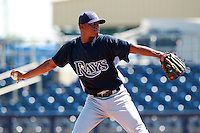 Tampa Bay Rays minor league pitcher Wilking Rodriguez during an Instructional League game vs. the Minnesota Twins at Charlotte Sports Park in Port Charlotte, Florida;  October 5, 2010.  Photo By Mike Janes/Four Seam Images