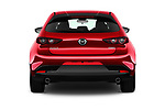 Straight rear view of 2019 Mazda Mazda3 Skydrive 5 Door Hatchback Rear View  stock images