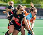 AMSTELVEEN  -  Kelly Jonker (A'dam).   Hoofdklasse hockey dames ,competitie, dames, Amsterdam-Groningen (9-0) .     COPYRIGHT KOEN SUYK