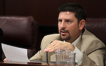 Nevada Sen. Mark Manendo, D-Las Vegas, speaks in committee on Wednesday, April 13, 2011, at the Legislature in Carson City, Nev. .Photo by Cathleen Allison