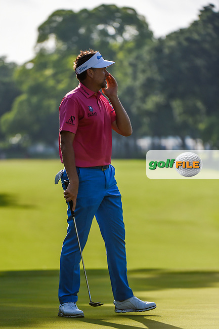 Ian Poulter (GBR) reacts to barely missing his birdie putt on 5 during round 3 of the 2019 Charles Schwab Challenge, Colonial Country Club, Ft. Worth, Texas,  USA. 5/25/2019.<br /> Picture: Golffile | Ken Murray<br /> <br /> All photo usage must carry mandatory copyright credit (© Golffile | Ken Murray)
