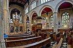 Oxford 2009-03-07. Miasto w południowej Anglli głównie znane jako siedziba Uniwersytetu Oxfordzkiego. Wnętrze Katedry Uniwersyteckiej.s