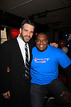 "One Life To Live Nathaniel Marston and Sean Ringgold ""Shawn"" at 9th Annual Daytime Stars & Strikes Charity Event to benefit The American Cancer Society on October 7, 2012 at Bowlmor Lanes Times Square, New York City, New York.  (Photo by Sue Coflin/Max Photos)"