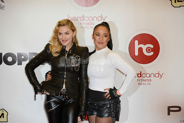 "Madonna and Nicole Winhoffer attending the ""Hard Candy Fitness"" event in Berlin, Germany, 17.10.2013. <br /> Photo by Janne Tervonen/insight media <br /> Photo by Janne Tervonen/insight media /MediaPunch Inc. ***FOR USA ONLY***"