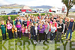 Some of the two hundred strong who took part in the 'Head 2 Toe' walk on Valentia Island on Saturday morning last, pictured here with Paul & Karen Curran outside the Royal Hotel, Valentia.
